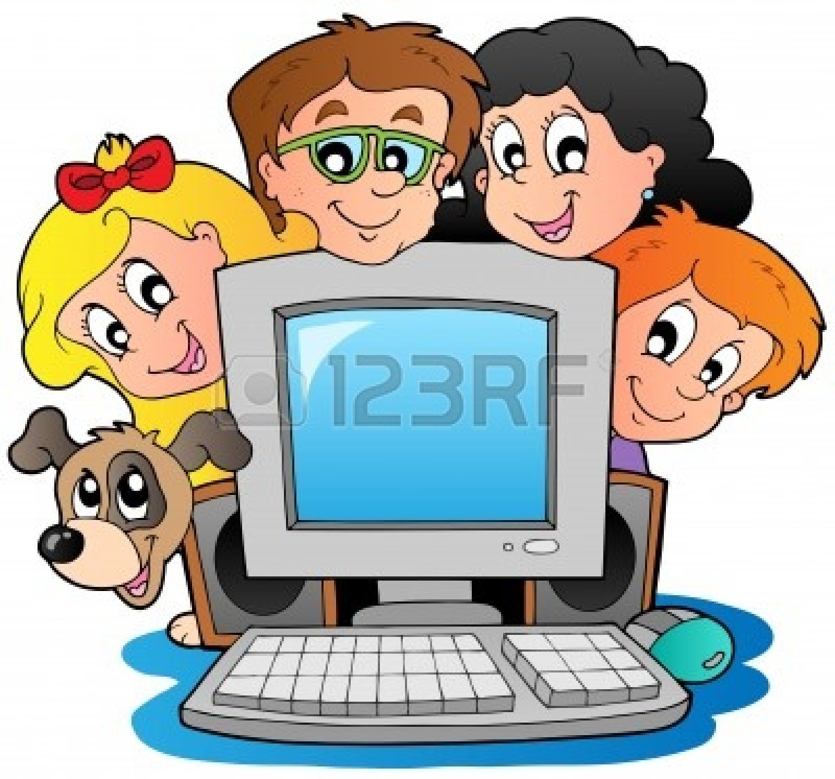 computer-clipart-for-kids-10354188-computer-with-cartoon-kids-and-dog